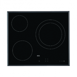 AEG IKB63341FB Induction Hob 3 Burners Beveled 60 Cm