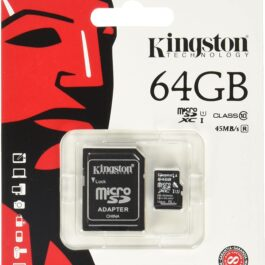 Memoria Micro SDHC KINGSTON 64GB Canvas Con Adaptador