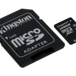 Memoria Micro SDHC KINGSTON 128GB Canvas con Adaptador
