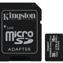 Memoria Micro SDHC KINGSTON 16GB Canvas Con Adaptador